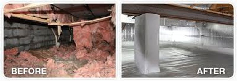 Before and After Crawl Space Repair and Waterproofing